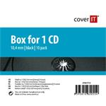 COVER IT 1 CD 10mm jewel box + tray 10ks/bal