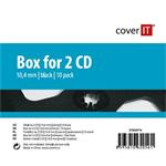 COVER IT 2 CD 10mm jewel box + tray 10ks/bal