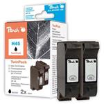 Peach Twin Pack Ink Cartridges black, compatible with Kodak, HP, Apple 51645A, No. 45