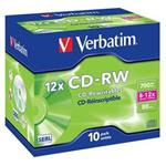 VERBATIM CD-RW SERL 700MB, 12x, jewel case 1 ks