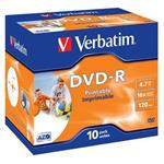 VERBATIM DVD-R AZO 4,7GB, 16x, printable, jewel case 1 ks