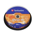 VERBATIM DVD-R AZO 4,7GB, 16x, spindle 10 ks