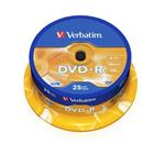VERBATIM DVD-R AZO 4,7GB, 16x, spindle 25 ks