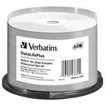 VERBATIM DVD-R DataLifePlus 4.7GB, 16x, printable, waterproof, spindle 50 ks