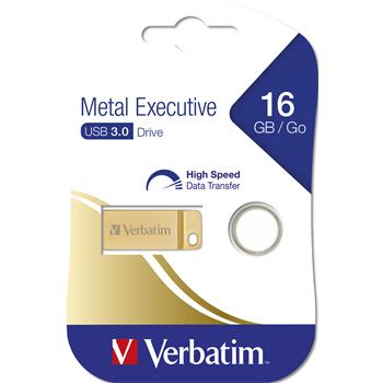 VERBATIM Store 'n' Go Metal Executive 16GB USB 3.0 zlatá